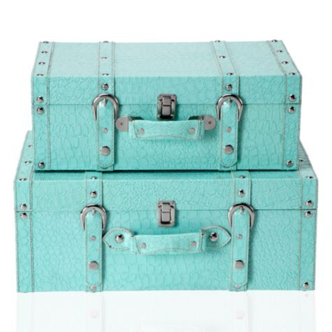 This is one of my favorite colors-beautiful! Veneto Suitcases - Aquamarine - Set of 2 from Z Gallerie