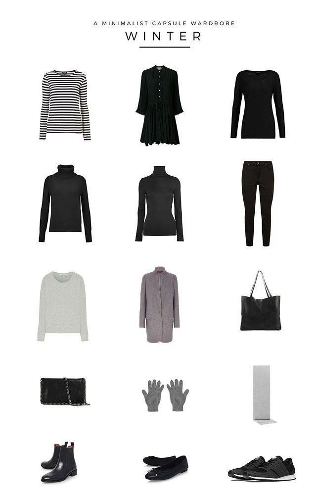 A minimalist winter capsule wardrobe