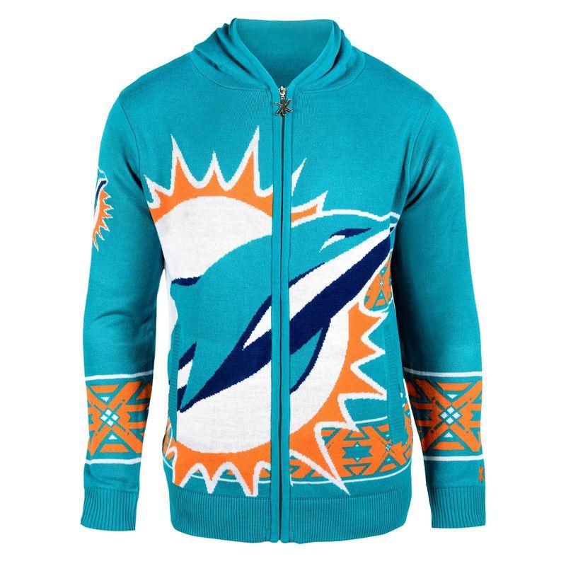 6556512d Miami Dolphins Klew Big Logo Full-Zip Hoodie - Aqua   Products ...