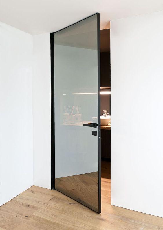 Miroir Espion Portes Vitrees Interieures Porte Battante Porte Vitree