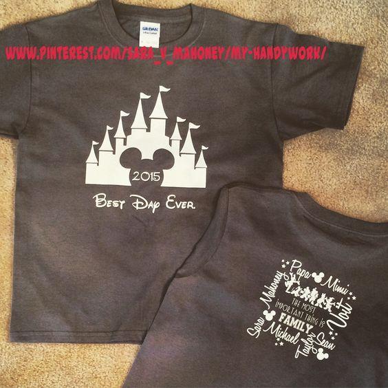 Disney Family Vacation Park T Shirts Using My Silhouette Cameo And HTV