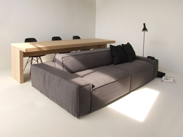 Platzsparende Designer Möbel Sofa Polsterung Braun