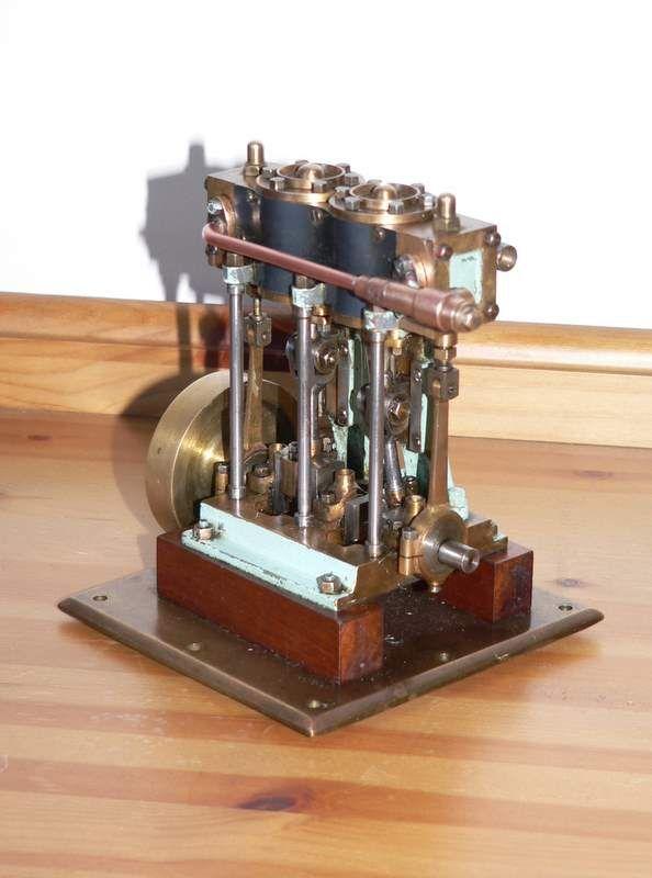 Vintage twin cylinder marine engine all motionwork is in for Outboard motor cylinder boring