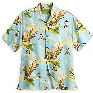 d4288017 Mickey Mouse Aloha Shirt for Men by Tommy Bahama - Blue | Disney Store  He'll relax and enjoy vacation fun while wearing our Mickey Mouse Aloha  Shirt by ...