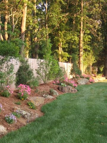 Natural Berm With Boulders And Plantings If Only I Owned My Own