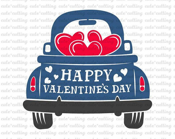 Download Valentines truck svg Loads of love svg with heart | Etsy ...