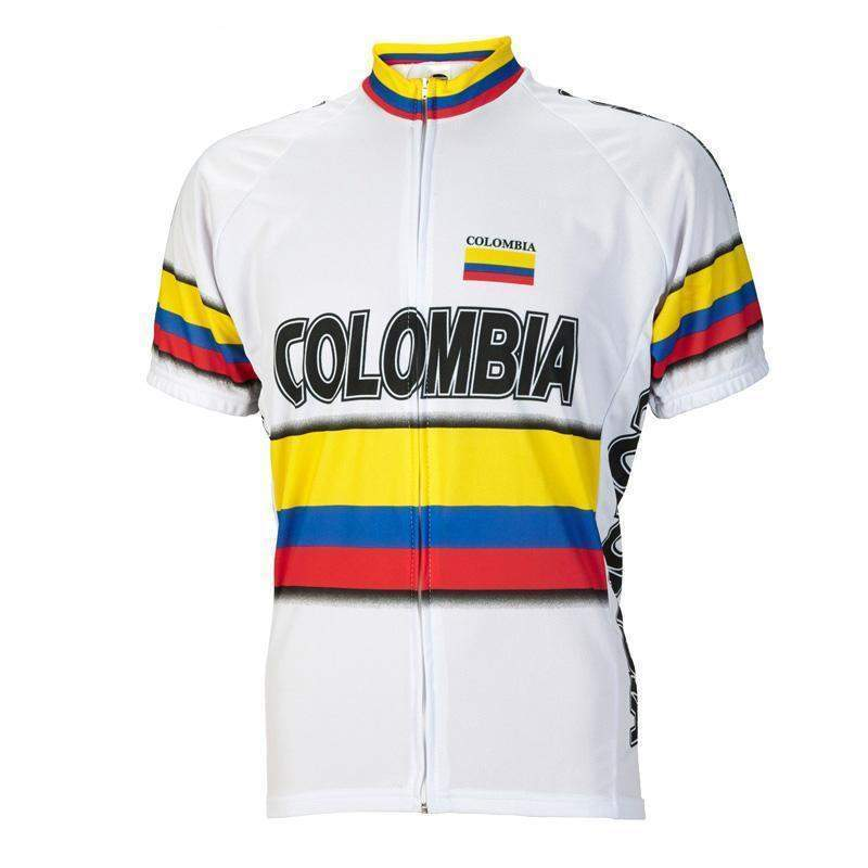 Colombia Flag Pro White Cycling Jersey-Online Cycling Gear  0915f783c