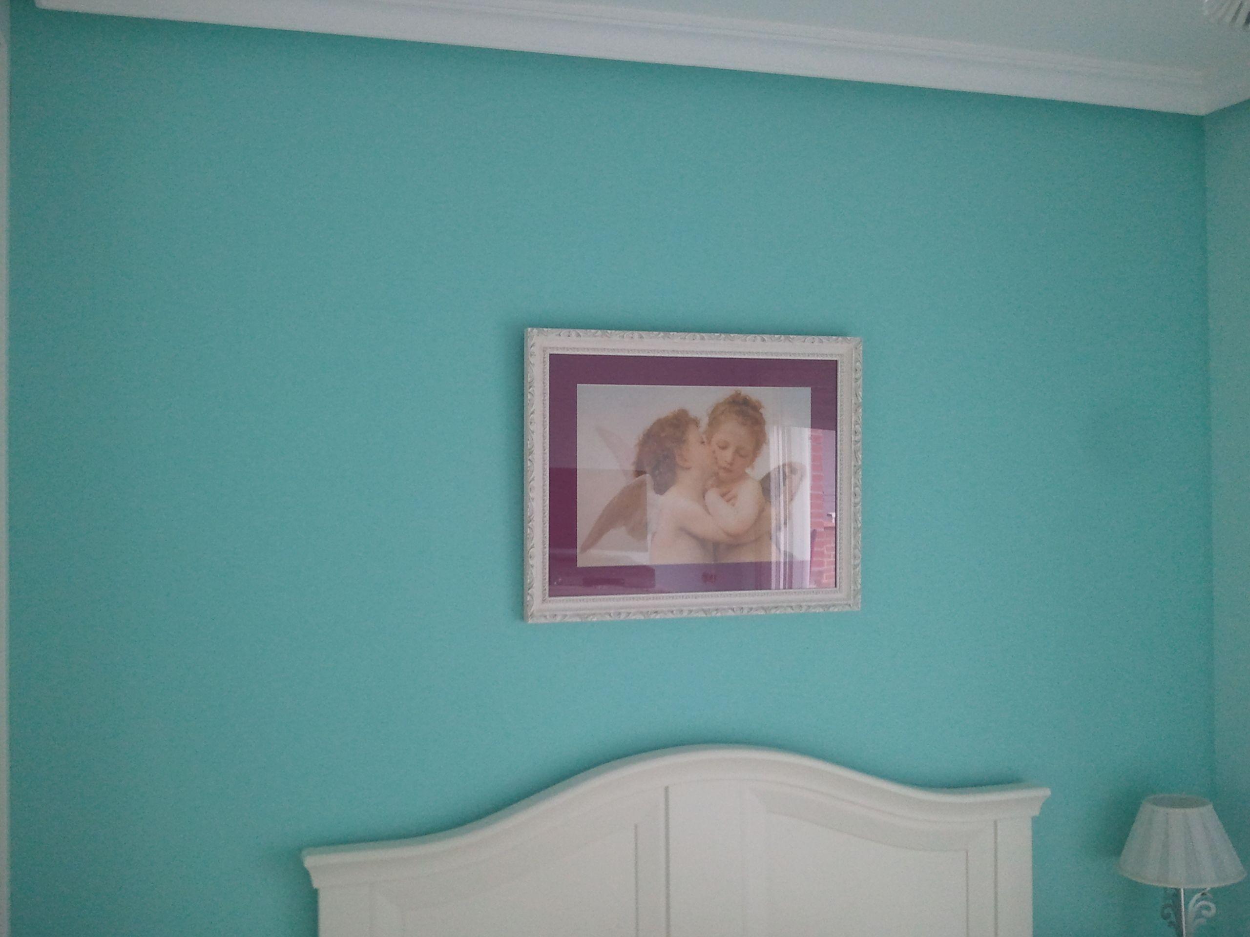 dormitorios con pared pintada de turquesa - Buscar con Google