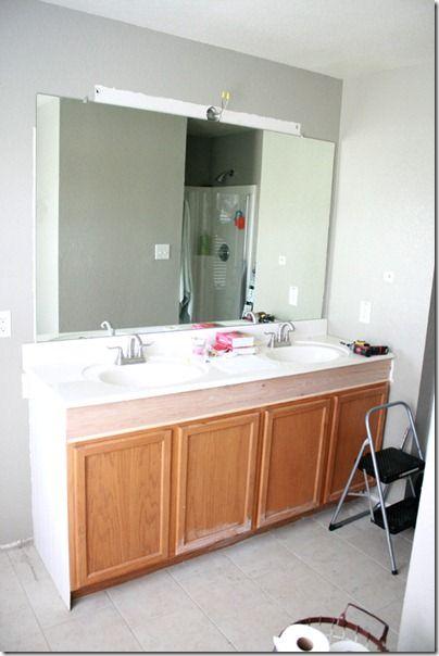 Remodelaholic How To Raise Up A Short Vanity Bathroom Vanity Makeover Diy Bathroom Vanity Small Bathroom Vanities
