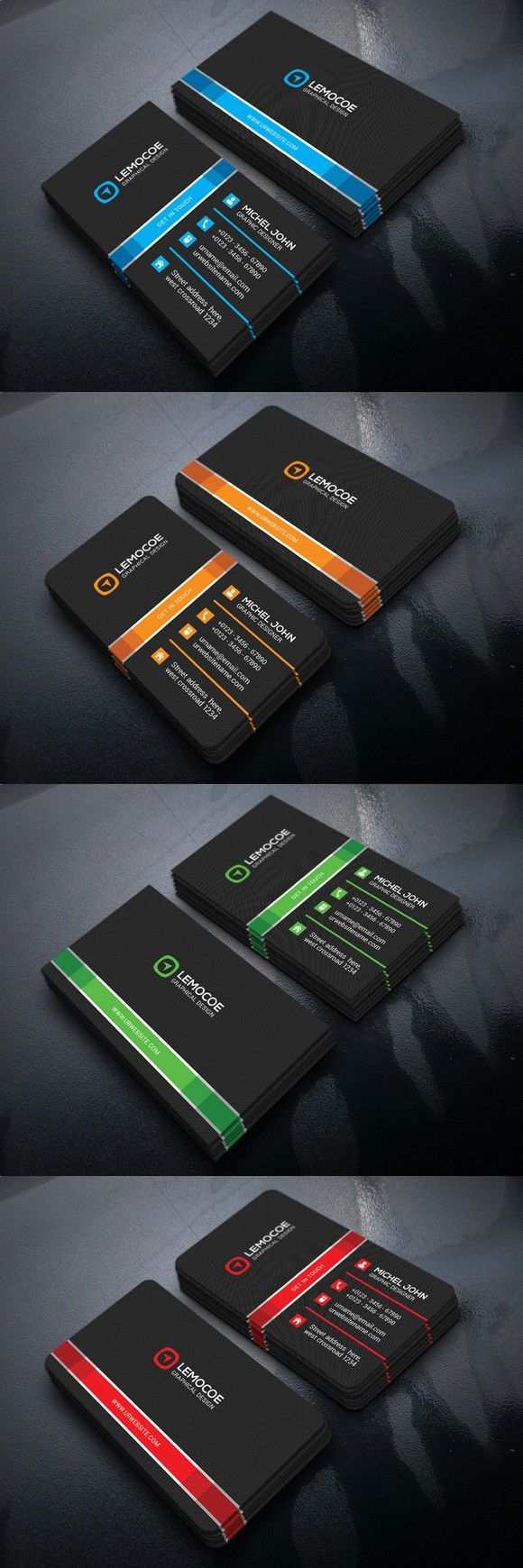 Lemocoe Business Card. Business Card Templates. $6.00 | Diseño ...