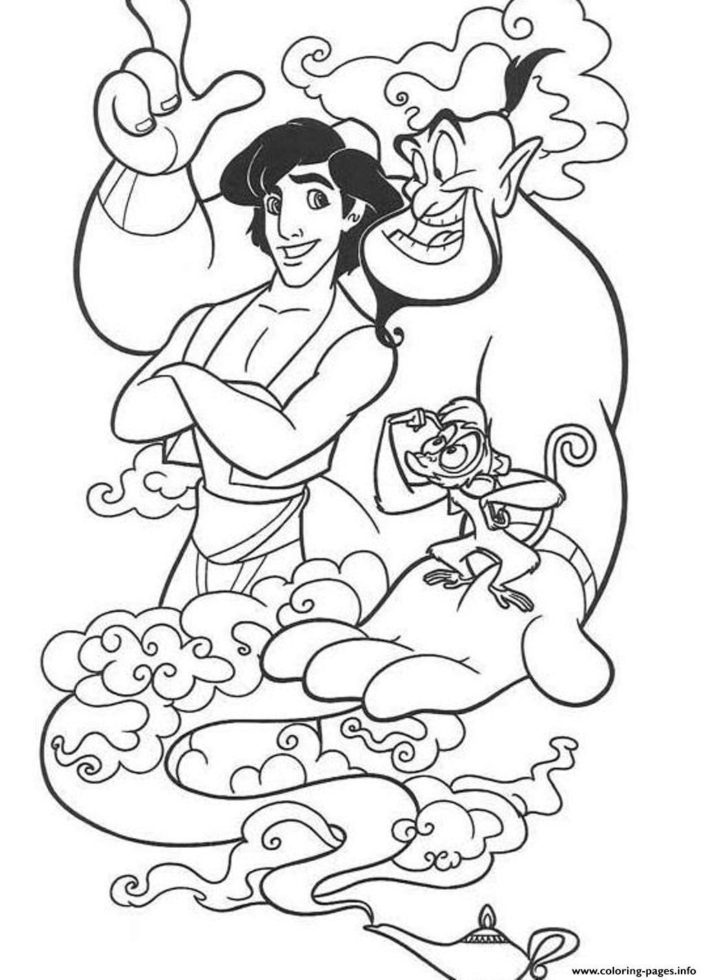 Print Abu Genie And Aladdin Disney7665 Coloring Pages Disney Coloring Sheets Free Disney Coloring Pages Disney Coloring Pages