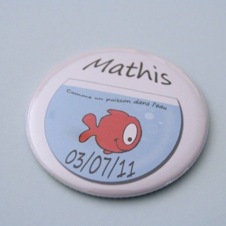 "Faire part original avec magnet assorti "" me un poisson"" Faire"