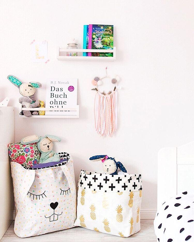Wäschesack für das Kinderzimmer selber nähen mit Schnittmuster als ...