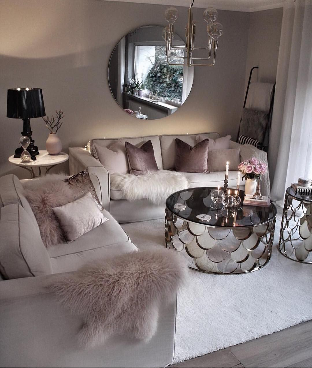 Glam Home Interior Design On Instagram Follow Glamhomedecorr For More Home Inspiration Living Room Decor Apartment Living Room Decor Cozy Girly Living Room