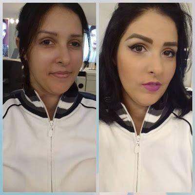 Dicas da Sylvana Vieira: Maquiagem de festa: Antes X depois