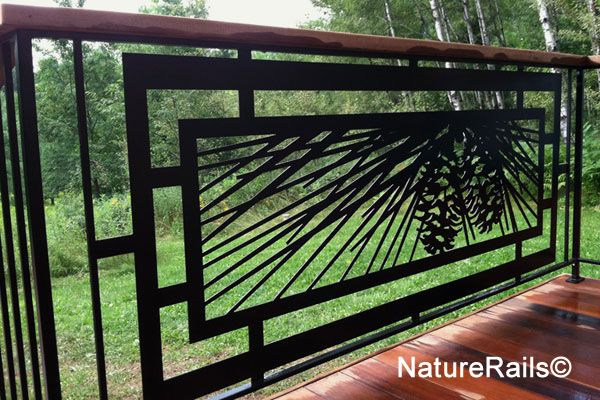 Modern Deck Railing No Painting Needed Ever Cut With