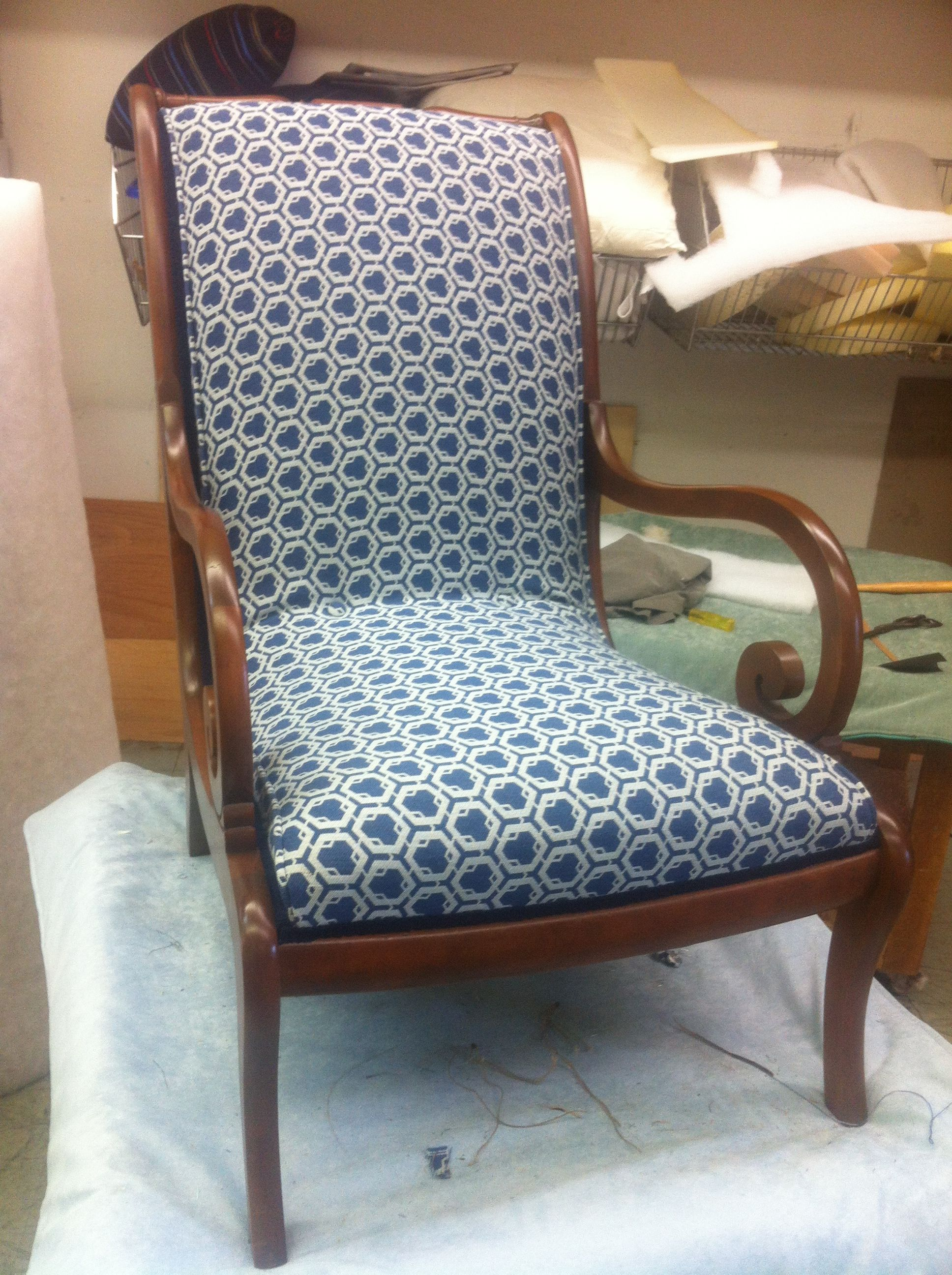 Canadian made scroll arm chair the exact chair im