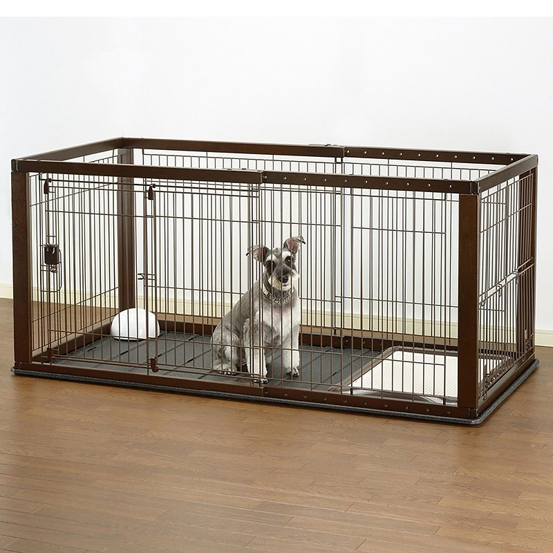 Richell Expandable Pet Crate with Floor Tray Dog crate