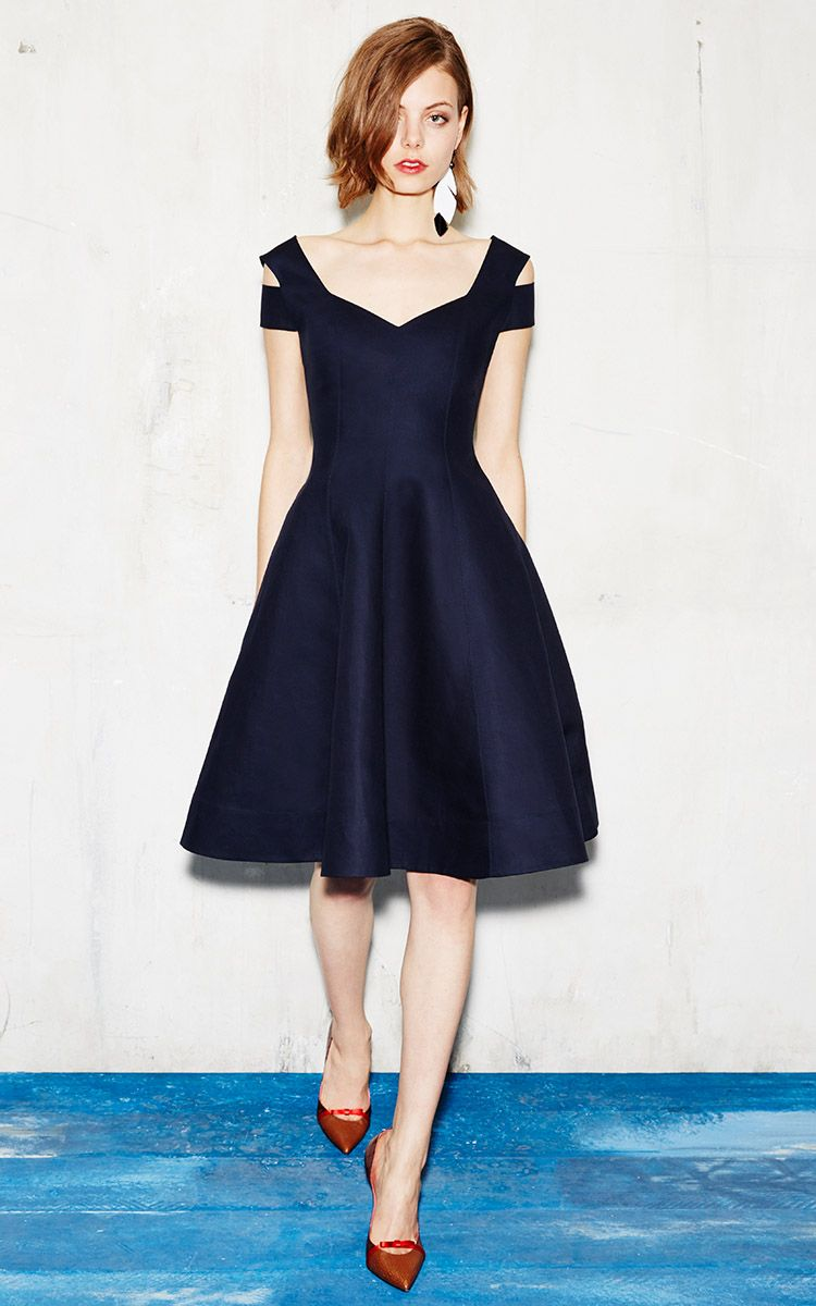 Off The Shoulder Midi Black Dress Source | dresses | Pinterest ...