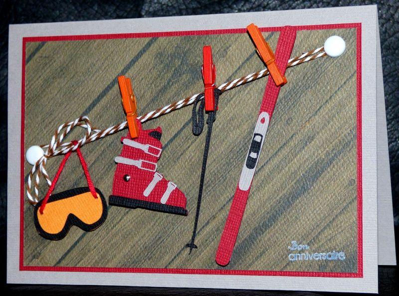 Carte Anniversaire Skieur.Resultat De Recherche D Images Pour Carte Ski Scrapbooking