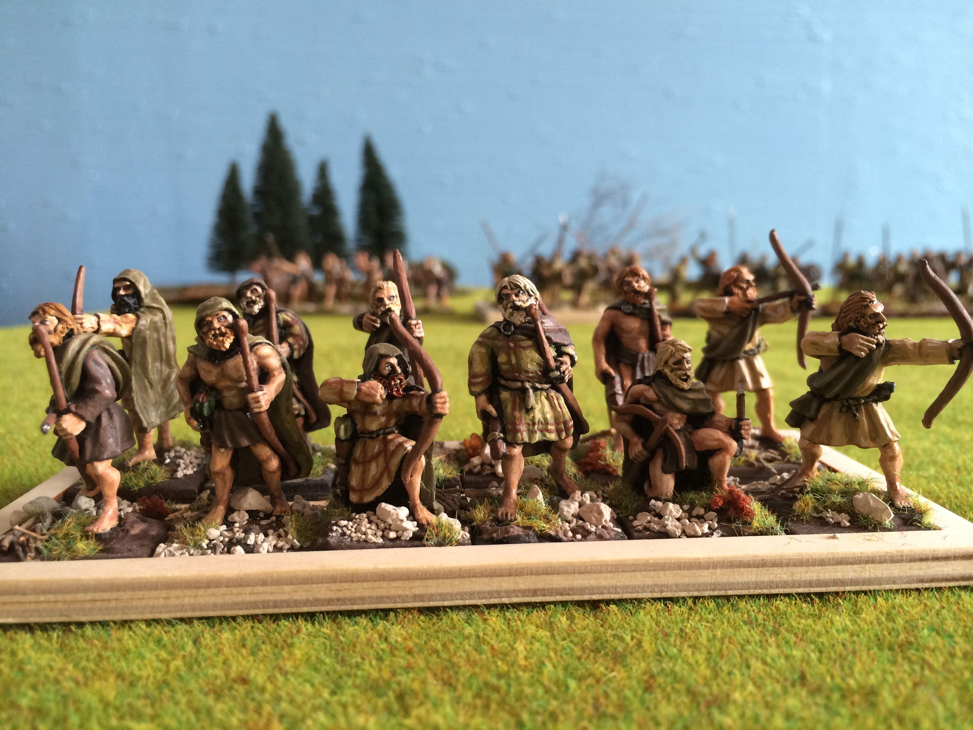 Pumarhh archers pictes figurines 28mm SAGA skirmish games Black Tree Design miniatures pict bowmen hunters