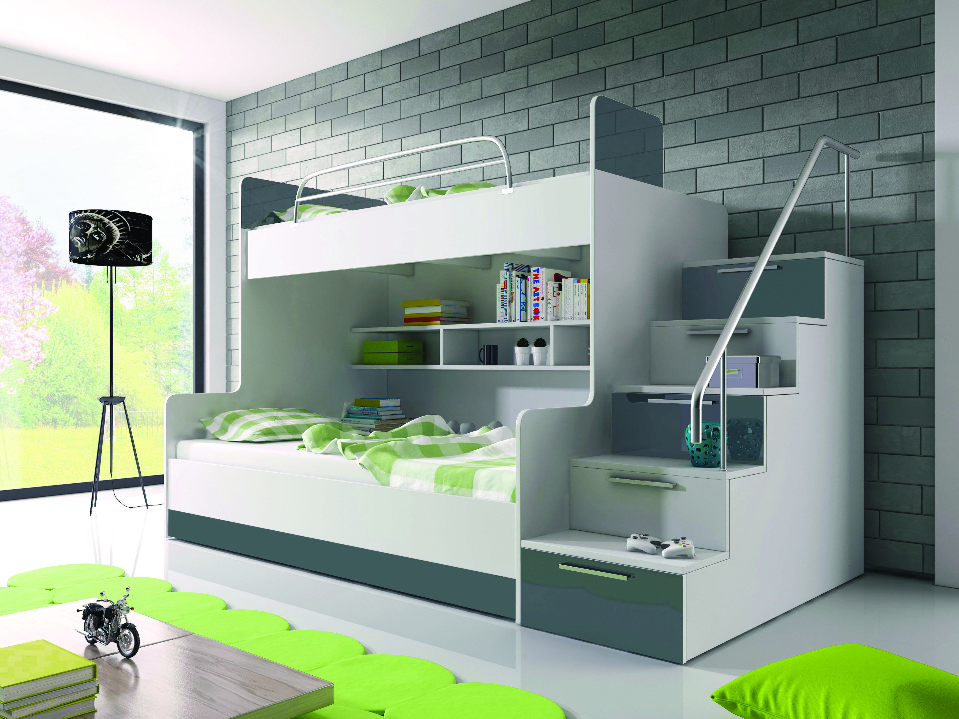 8 Loft Bedroom Ideas For Your Tiny Bed Room Homes Tre Modern Bunk Beds Bunk Beds With Stairs Kid Beds
