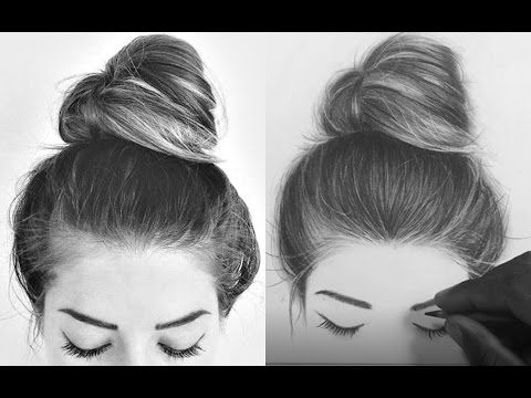 Step By Step How To Draw Shade Realistic Hair Bun With Pencils Emmy Kalia Youtube How To Draw Hair Realistic Drawings Portrait Drawing