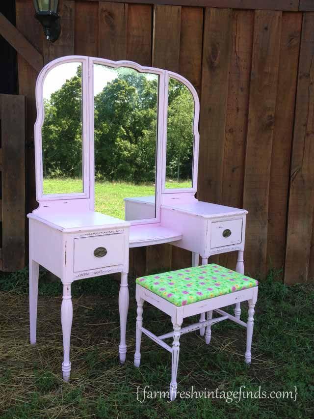 Pink vanity latex paint farm fresh vintage finds