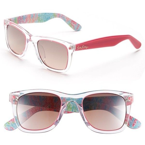 Lilly Pulitzer \'Gabby\' 49mm Retro Sunglasses ($68) ❤ liked on ...
