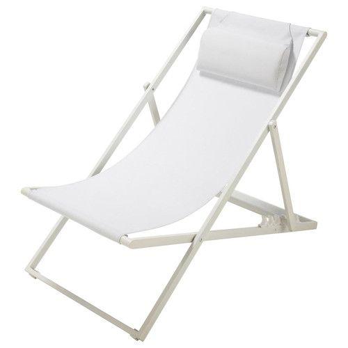 Chaise Longue Chilienne Pliante En Metal Blanc Maisons Du Monde Chaise Longue Maison Du Monde Chaise