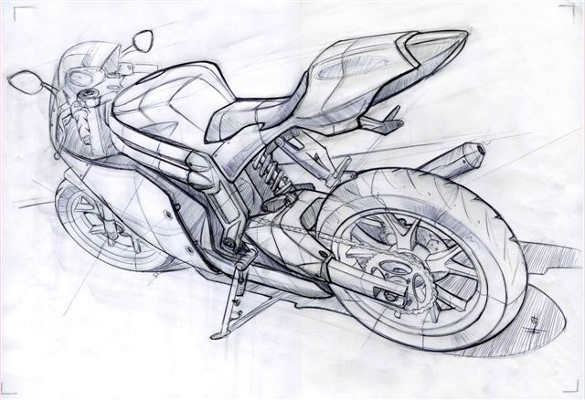 Rieju Rs3 By Mark Wells At Coroflot Com Bike Sketch