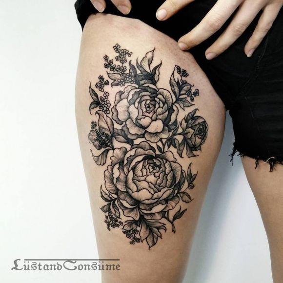 r sultat de recherche d 39 images pour tatouage pivoines les tatouages tatouage tatouage. Black Bedroom Furniture Sets. Home Design Ideas