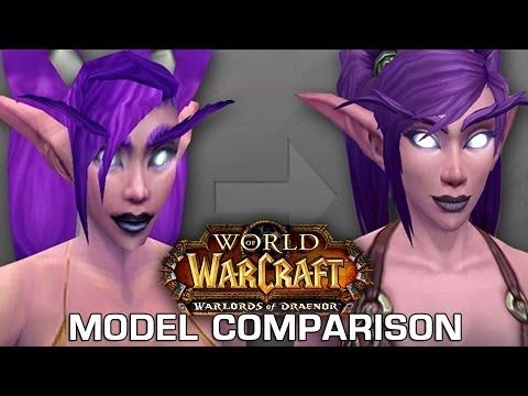 Graphics Comparison New Old Models In World Of Warcraft Warlords