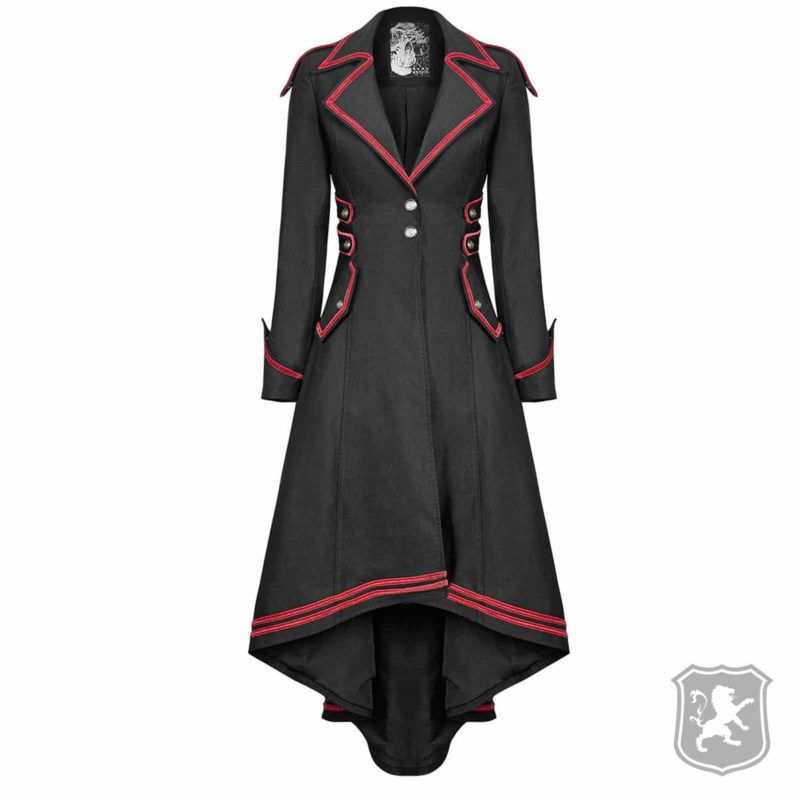 Black Red Long Gothic Women Jacket  Kilt Zone Black Red Long Gothic Women Jacket  Kilt Zone Woman Waistcoats red velvet goth steampunk woman's waistcoat