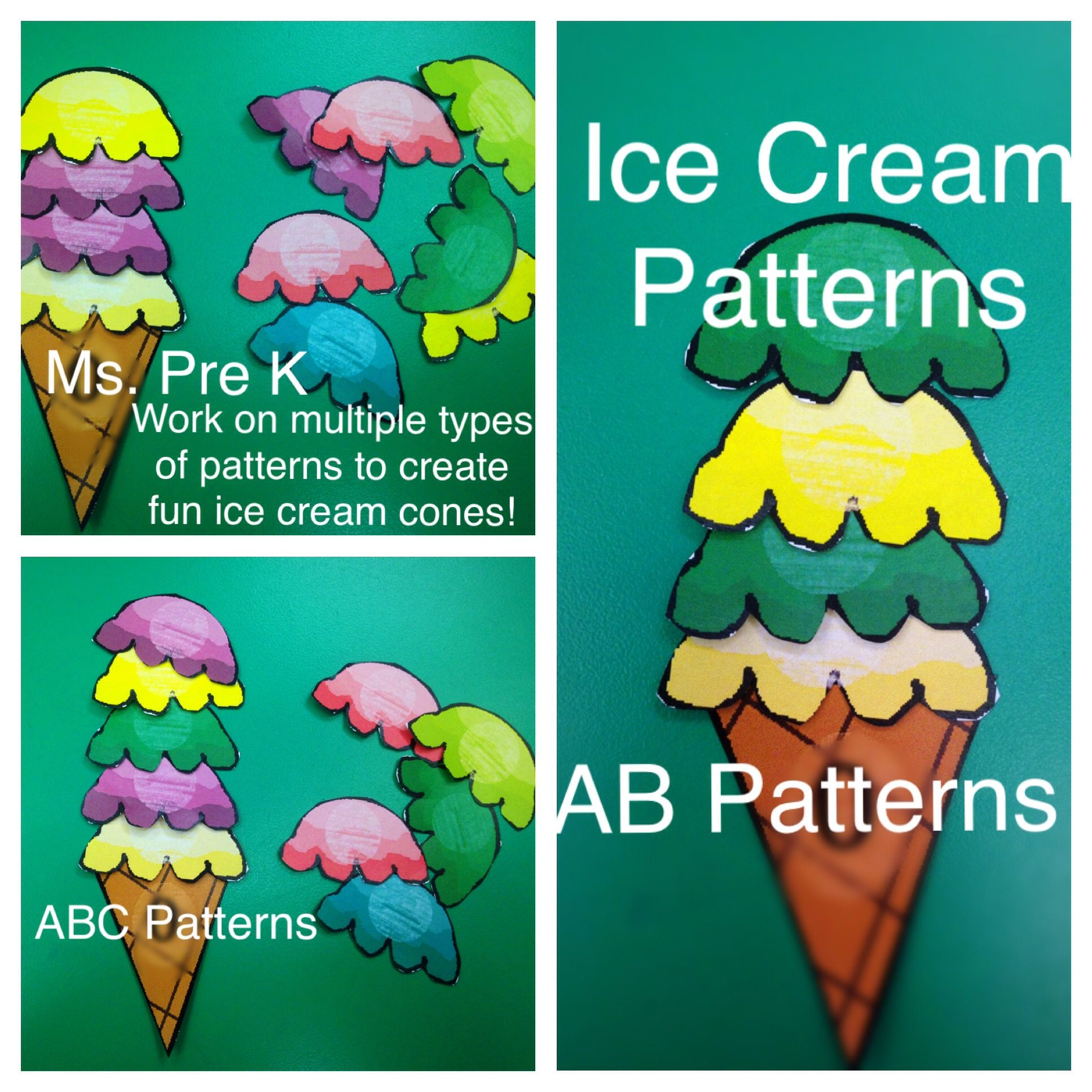 Preschool Ice Cream Patterns in 2018 | Primary Materials from TPT ...