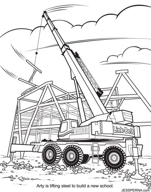 construction coloring pages coloring