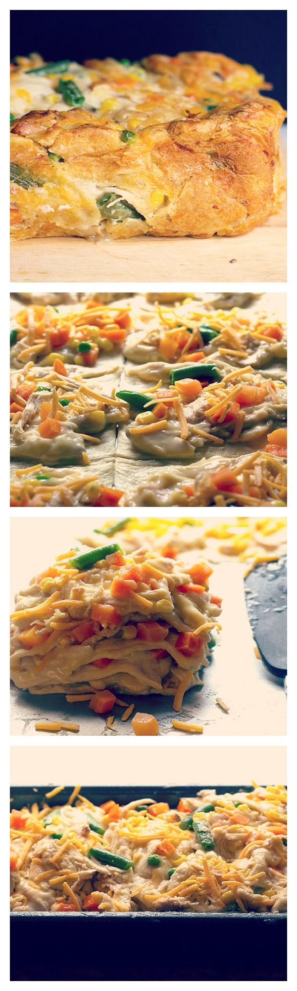 Ultimate Comfort Food: Chicken Pot Pie Crescent Bake!