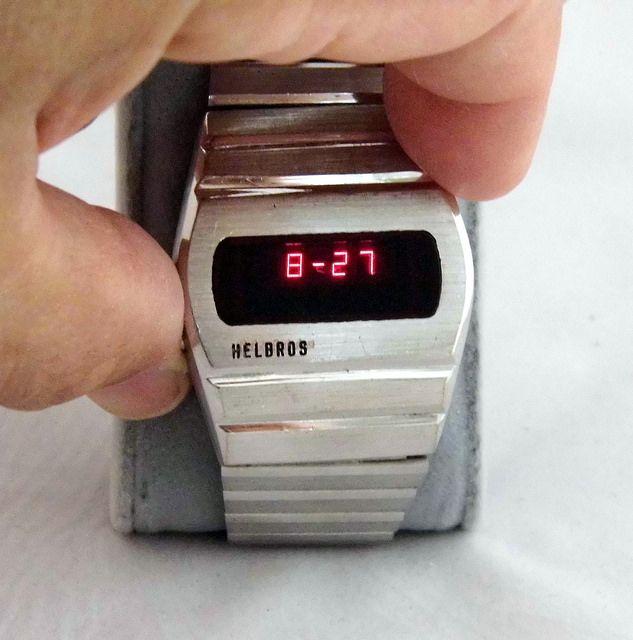 vintage helbros led electronic quartz digital men s watch made in vintage helbros led electronic quartz digital men s watch made in usa circa 1970s ddd
