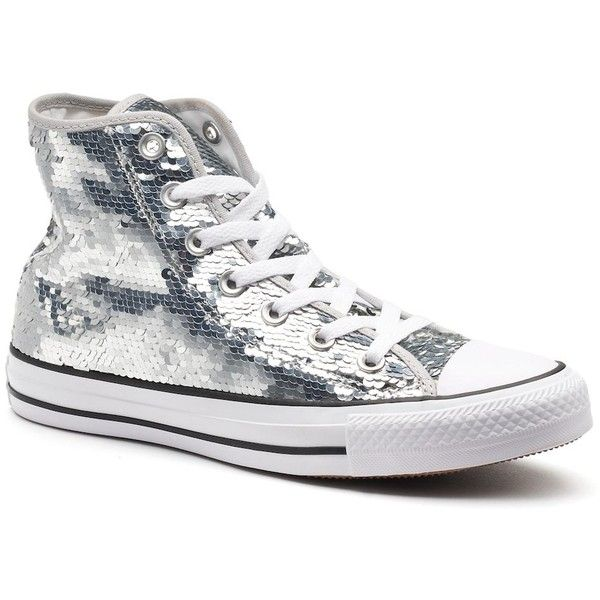 95606ea0b30dd4 Women s Converse Chuck Taylor All Star Sequin High Top Sneakers ( 70) ❤  liked on