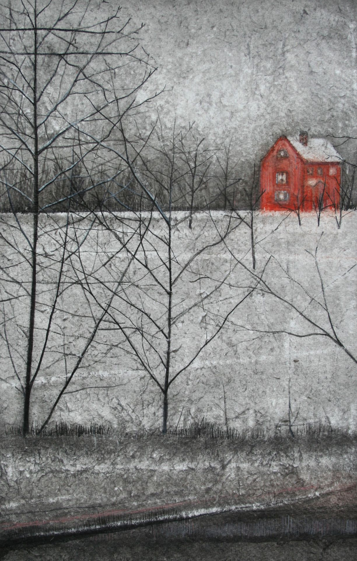 Red House Drawing: Thomas Lamb (British, B.1978) Red House, Study, 2012. Ink