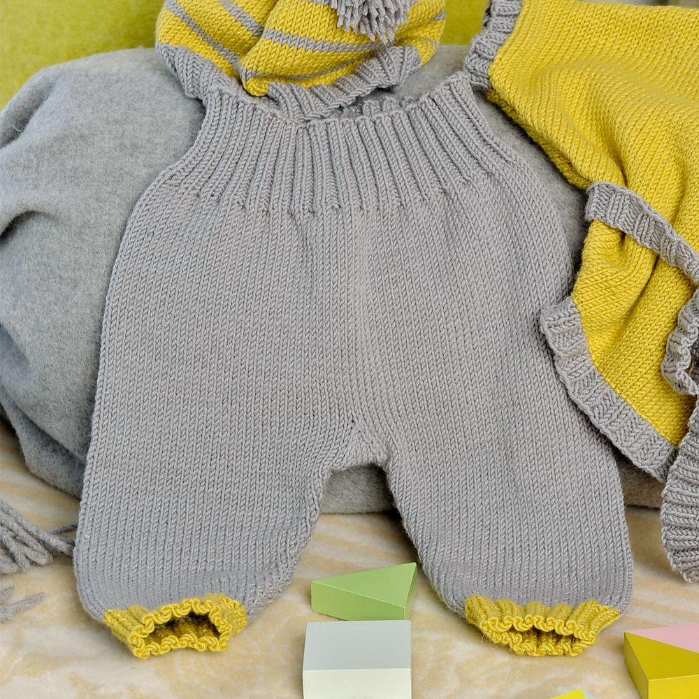 Как вязать штанишках для новорожденных схемы