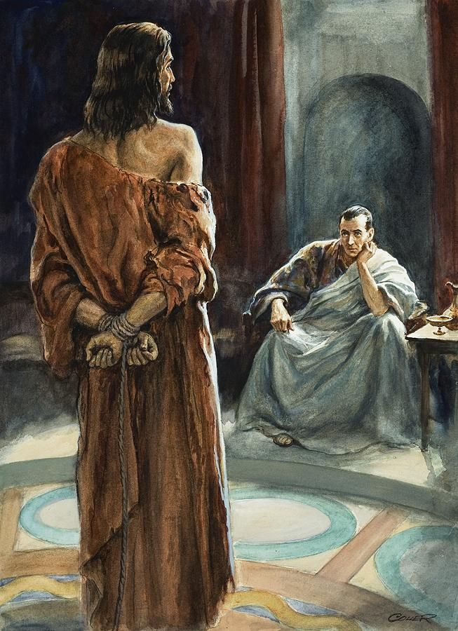 art pontius pilate | Christ In Front Of Pontius Pilate Painting ...