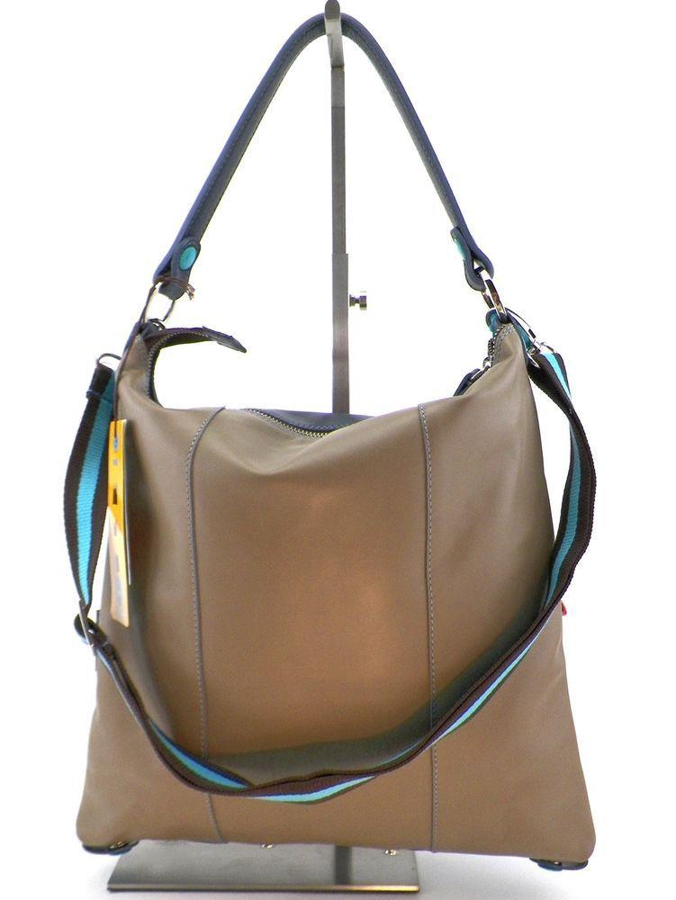 d3d0007774b31 Gabs SOFIA I16 BIC bluambra blau-amber Shopper Umhänge Tasche 2 in 1 Größe  M