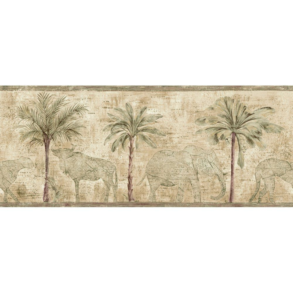 Amazon Com Village Artistic Flair Pattern Number 5804450 Home Improvement Wallpaper Borders For Bathrooms Wallpaper Border Green Wallpaper