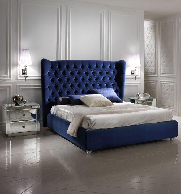 Luxury Blue Velvet Bed La D 233 Coration De La Maison