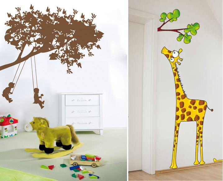 Great Funny Kids Playroom With Girafe Wall Stickers Kids Playroom Wall Decals    Designhome. Part 14