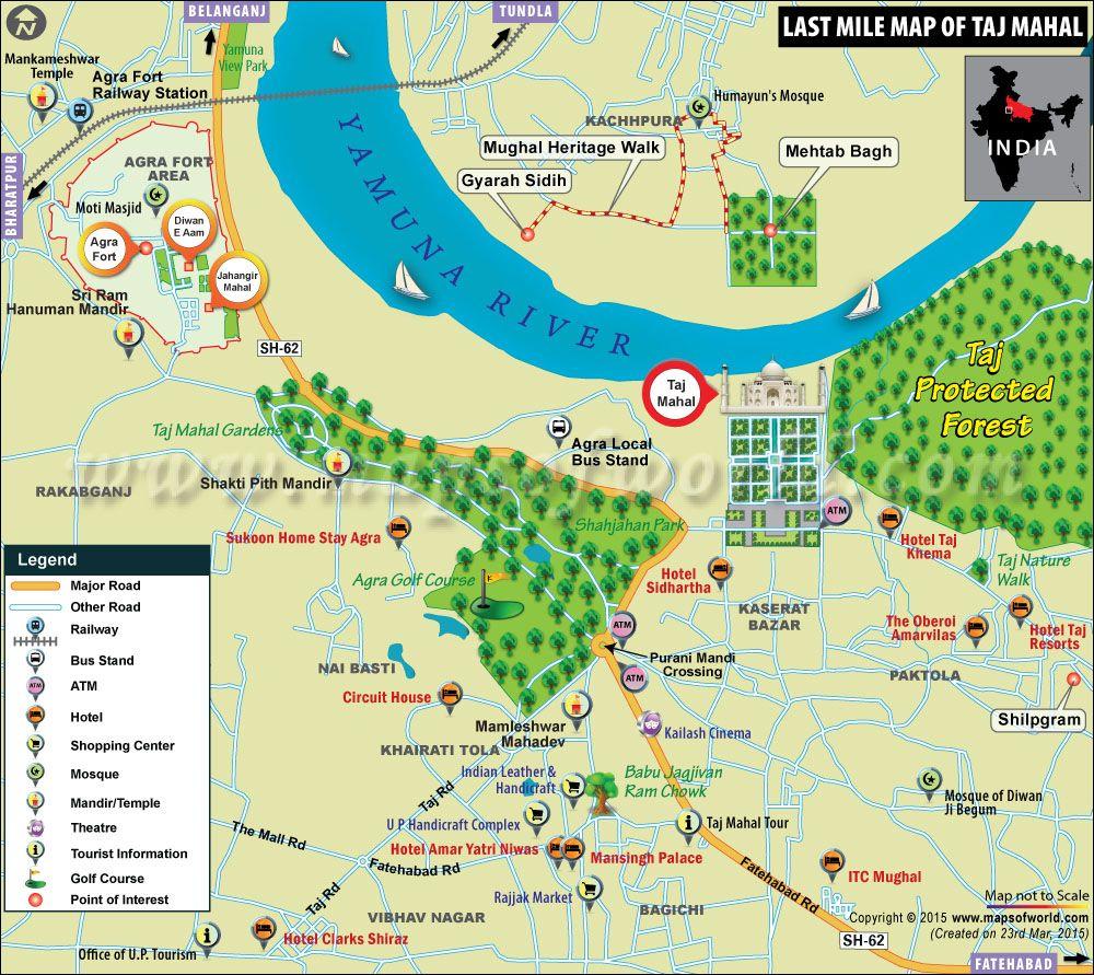 Taj Mahal Agra India Map Location History Facts Taj mahal