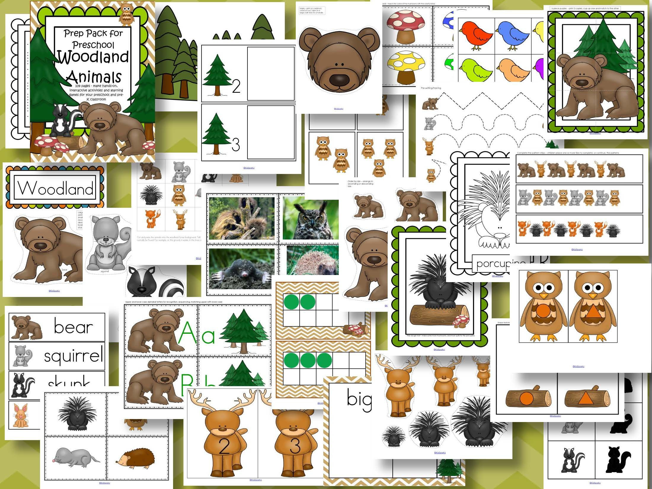 Forest Animals Math And Literacy Centers For Preschool And