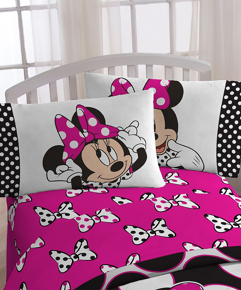 Minnie Mouse Dots Are The New Black Microfiber Sheet Set Products