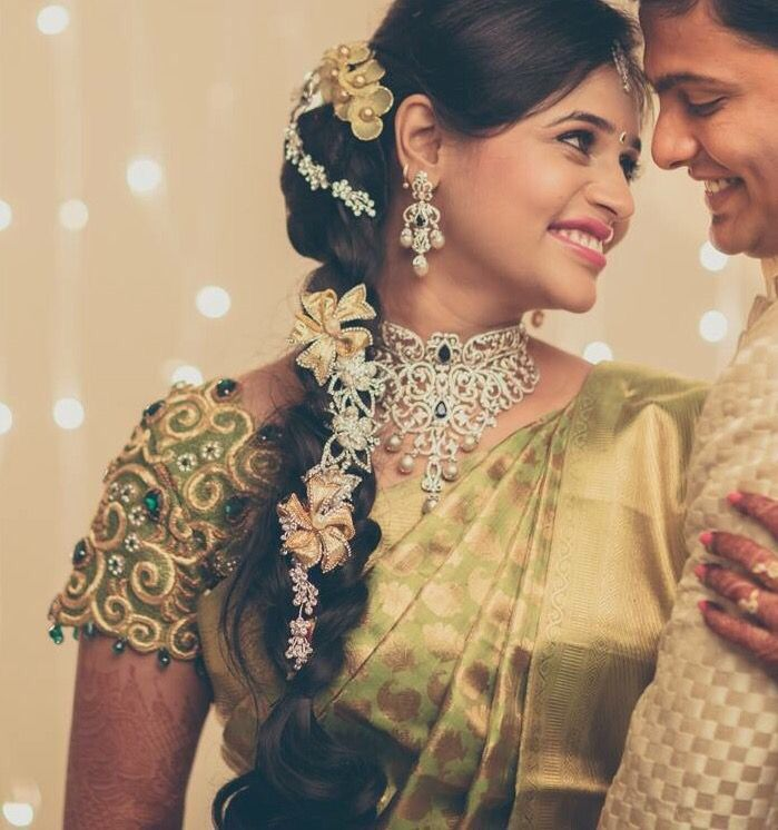 Wedding Hairstyle In Tamil: Pin By Sangeetha Pachaiyappan On Blouse Designs